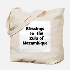 Blessings  to  the  Zulu of M Tote Bag