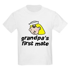 Grandpa's First Mate Girl T-Shirt