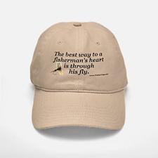 """The Way to a Fisherman's Heart"" Ball Baseball Baseball Cap"