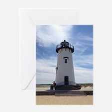 Unique Boston lighthouse Greeting Card