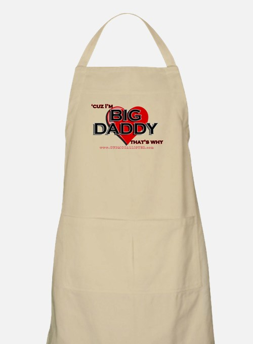 'Cuz I'm Big Daddy (heart) BBQ Apron
