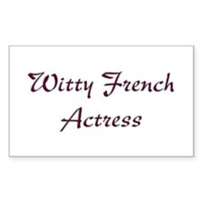 French Actress Rectangle Decal