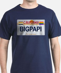 BIGPAPI California License Plate Color T-Shirt