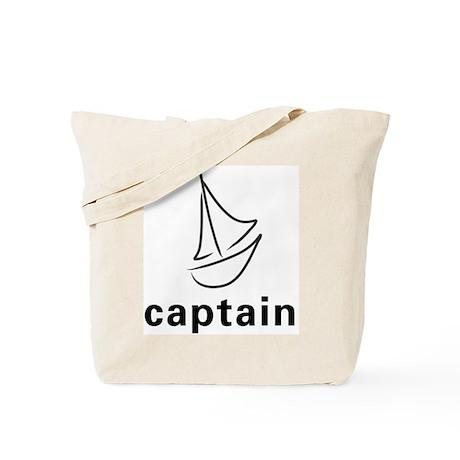 Sailboat Captain Tote Bag