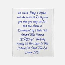 Dreams Do Come True Throw Blanket