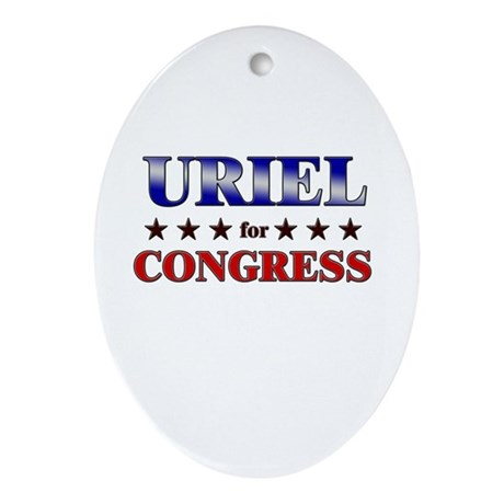 URIEL for congress Oval Ornament