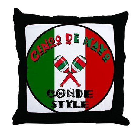 Conde Cinco De Mayo Throw Pillow