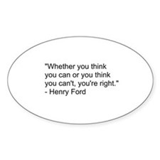 Henry Ford Quote Decal