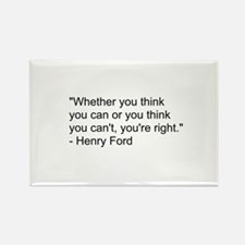 Henry Ford Quote Rectangle Magnet