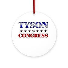 TYSON for congress Ornament (Round)
