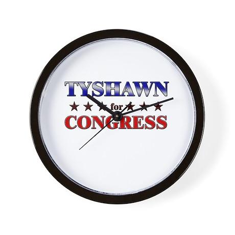 TYSHAWN for congress Wall Clock