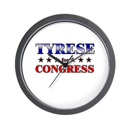 TYRESE for congress Wall Clock