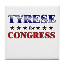 TYRESE for congress Tile Coaster