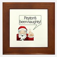 Peyton's Been Naughty Framed Tile