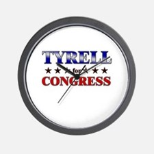 TYRELL for congress Wall Clock