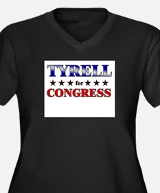 TYRELL for congress Women's Plus Size V-Neck Dark