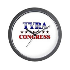 TYRA for congress Wall Clock