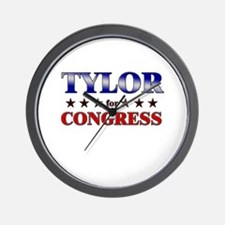TYLOR for congress Wall Clock