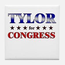 TYLOR for congress Tile Coaster