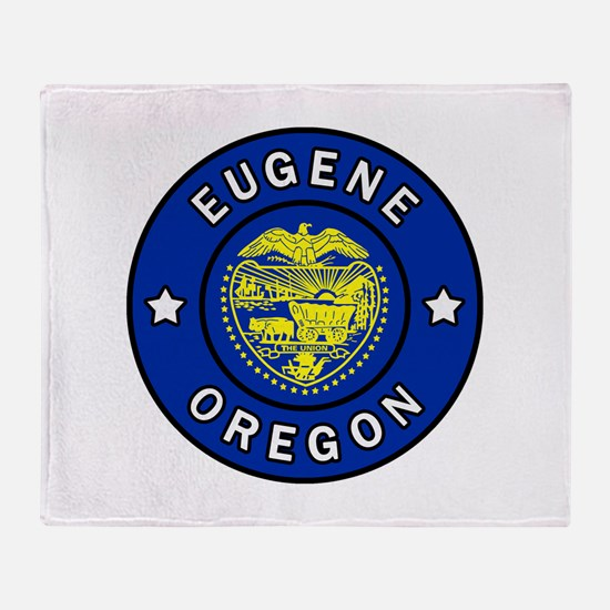Eugene Oregon Throw Blanket