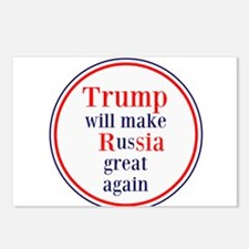 Trump will make Russia great again Postcards (Pack