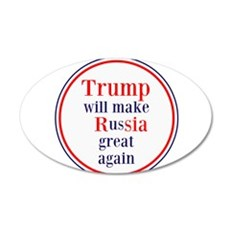 Trump will make Russia great again Wall Decal