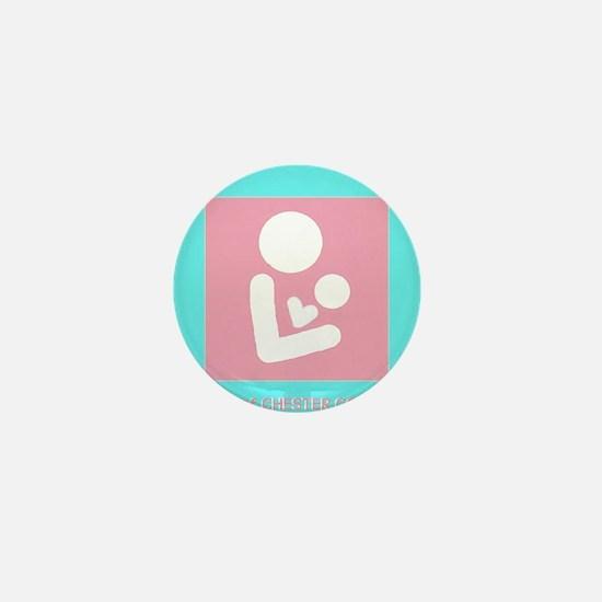 Pink Breastfeeding Logo Mini Button