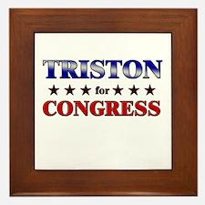 TRISTON for congress Framed Tile