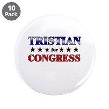 "TRISTIAN for congress 3.5"" Button (10 pack)"