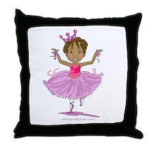 Ballerina Dancer Throw Pillow
