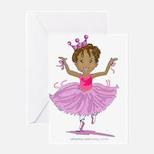 Ballerina Dancer Greeting Card