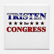 TRISTEN for congress Tile Coaster