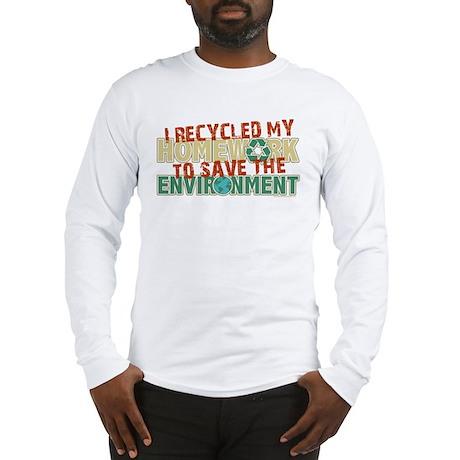 Recycled Homework Long Sleeve T-Shirt