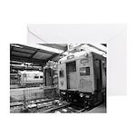 Trains at Hoboken Terminal Greeting Cards (6)