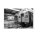 Trains at Hoboken Terminal Mini Poster
