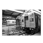 Trains at Hoboken Terminal Postcards (8)