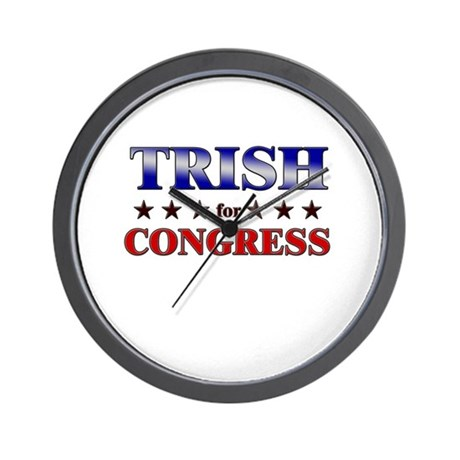 TRISH for congress Wall Clock