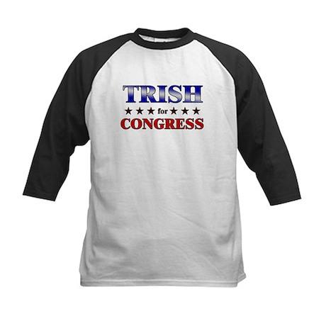 TRISH for congress Kids Baseball Jersey
