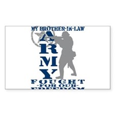 Bro-n-Law Fought Freedom - ARMY Sticker (Rectangu