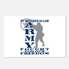 Bro-n-Law Fought Freedom - ARMY  Postcards (Packag