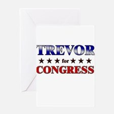 TREVOR for congress Greeting Card