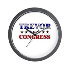 TREVOR for congress Wall Clock