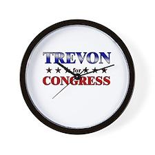 TREVON for congress Wall Clock