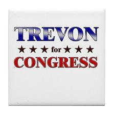 TREVON for congress Tile Coaster