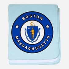Boston Massachusetts baby blanket