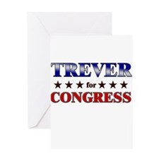 TREVER for congress Greeting Card