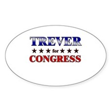 TREVER for congress Oval Decal