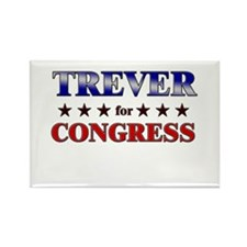 TREVER for congress Rectangle Magnet