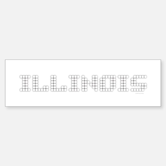 ILLINOIS - White Bumper Bumper Bumper Sticker