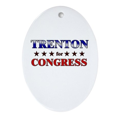 TRENTON for congress Oval Ornament